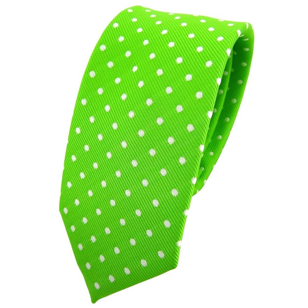 TigerTie - corbata estrecha - verde verde fluorescente neón verde ...