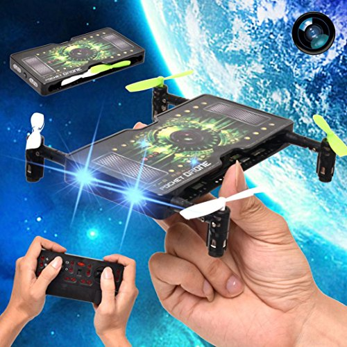 Creazy-1325-Folding-Pocket-Mini-drone-Selfie-20MP-HD-Camera-24G-4CH-RC-Quadcopter