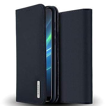 Radoo Funda Huawei P20 Pro Cuero Genuino, Carcasa Piel de Cuero Genuino con [Soporte Plegable] TPU Parachoques Cover,Protección De Cuerpo Completo ...