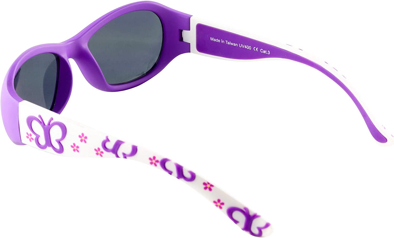Purple popper I Flexible and endurable frame I Resistant and comfortable I Pink I 21 grams 100/% UV 400 Protection Mausito Sunglasses for girls Category 3 age 2-5 kids