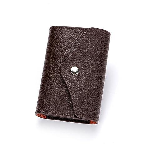 RFID de cuero real de las mujeres que bloquea la pequeña cartera multi de la tarjeta ...