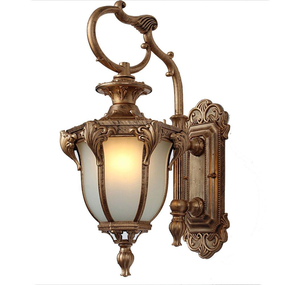 XHJJDJ Außenlaterne-Licht der Sammlungs-Außenim freien mit Regen-Glas, Wand-Wand-Laterne im Freien Freien Freien (Farbe   Bronze) 00857a