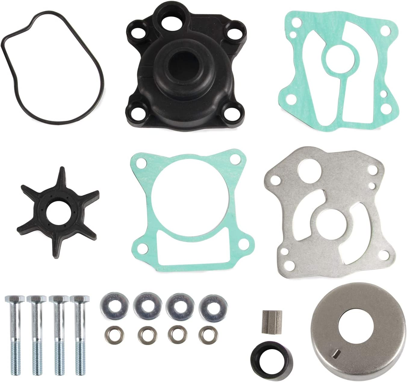 Replace 06193-ZV5-020 Water Pump Kit with Impeller Housing Compatible with HONDA Outboards BF35A BF40A BF40D BF45A BF50A BF50D (06193-ZV5-020)