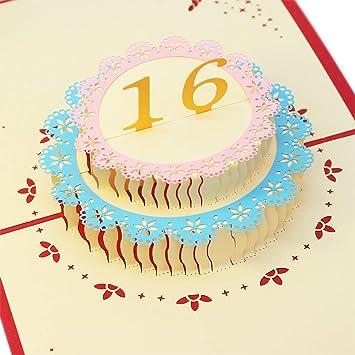 Creawoo 3d Aufklappbare Kuchen Karte Handgemachte Personalisierte