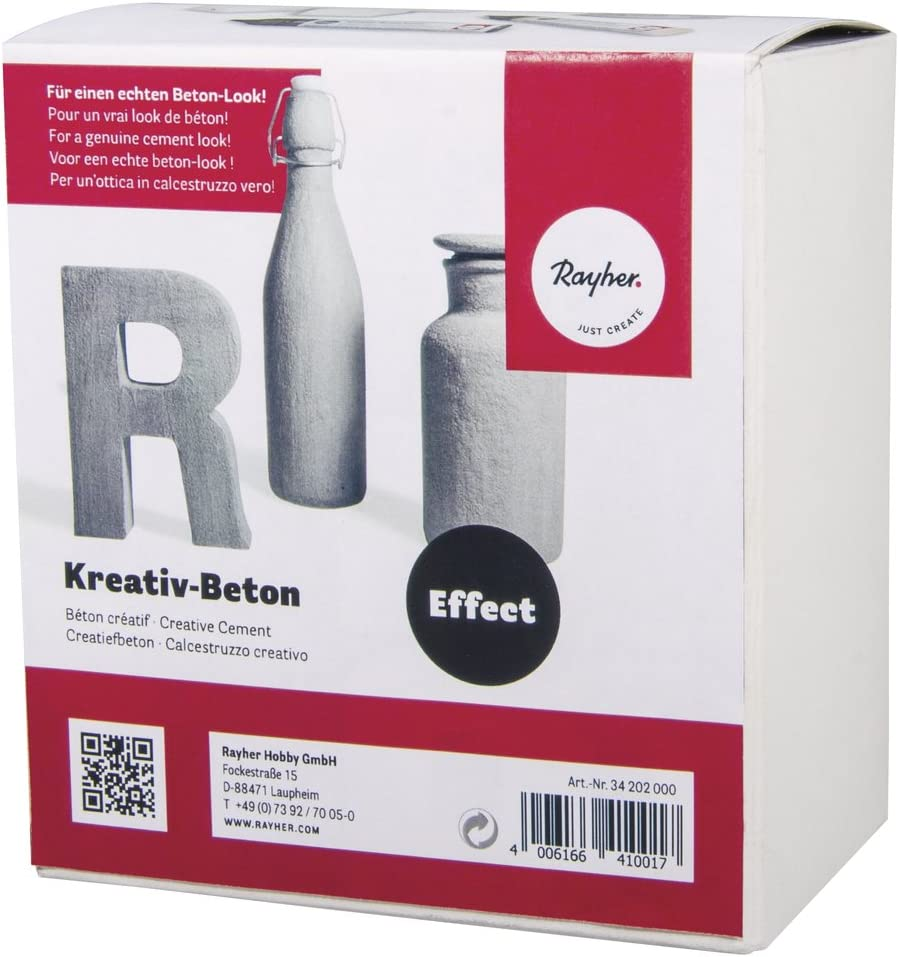 Rayher 34202000 Creativo de hormigón Paste, 1 Paste 250 ml, 2 Barniz 25 ml, cartón 1set: Amazon.es: Hogar
