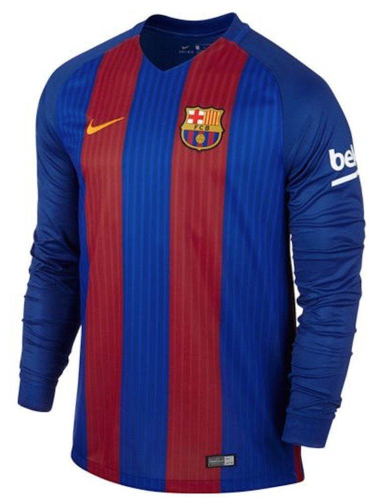 2016-2017 Barcelona Home Nike Long Sleeve Shirt