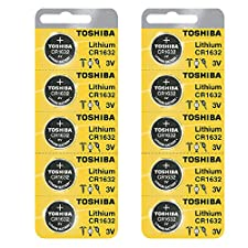 Toshiba CR1632 3 Volt Lithium Coin Battery (10 pcs)
