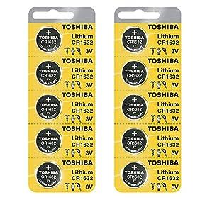 Toshiba CR1632 3 Volt Lithium Coin Battery (10 pcs)