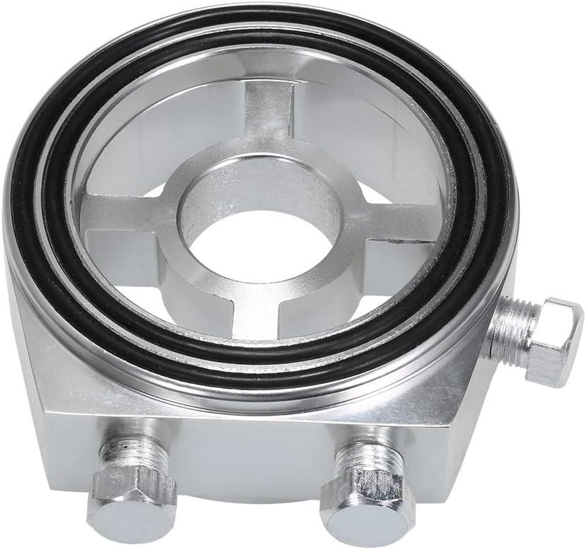 KKmoon Adattatore Universale per Piastra di Raffreddamento per Filtro Olio per Auto per Temperatura Olio e Pressione dellolio