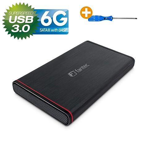 Fantec 225U3-6G - Caja para disco duro de 6,35 cm (2,5 pulgadas ...