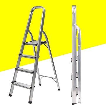 Altas - Escalera de 4 peldaños, portátil, plegable, ligera, de ...