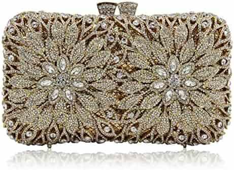 f34f9a087a Womens Crystal Evening Clutch Bag Wedding Purse Bridal Prom Handbag Party  Bag