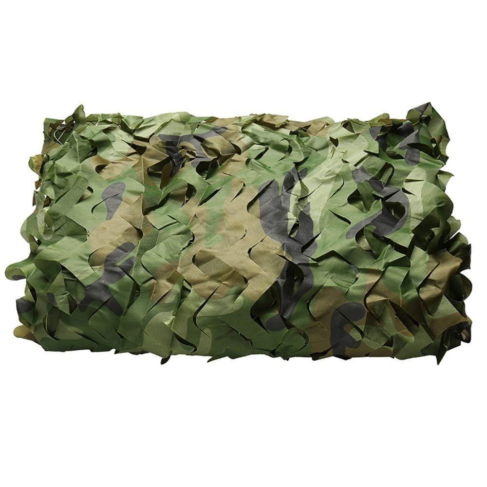 Ljdgr Filet Camo Visière Extérieure GR Camouflage Filet Anti Photographie aérienne Observation des Oiseaux Camping en Plein air (Taille  2x6m) Armée Camo Filet (Taille   5x10m)  5x10m