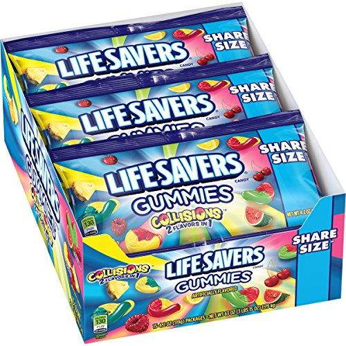 Lifesavers Gummies Collision Pouches, 4.2 Ounce (Pack of -