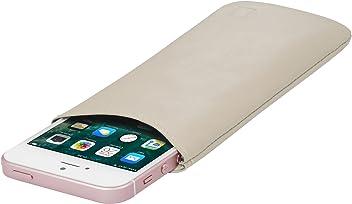 StilGut Housse Universelle pour téléphone Portable en Cuir Nappa Doux Taille S, crème Nappa
