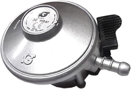 Regulador de bombona de butano clip-en 21 mm con montaje ...