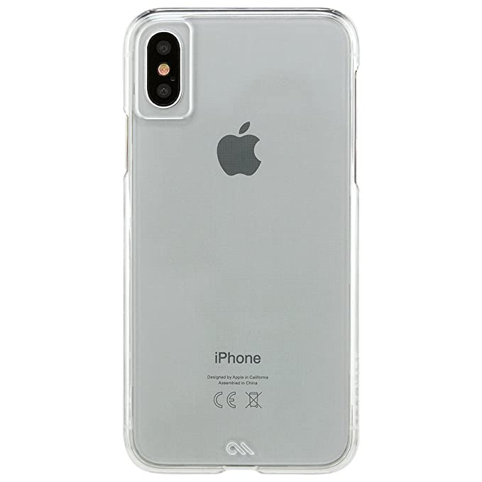 hot sale online f67e0 f3226 Case-Mate iPhone X Case - Barely There - Ultra Thin - Design for Apple  iPhone 10 - Clear