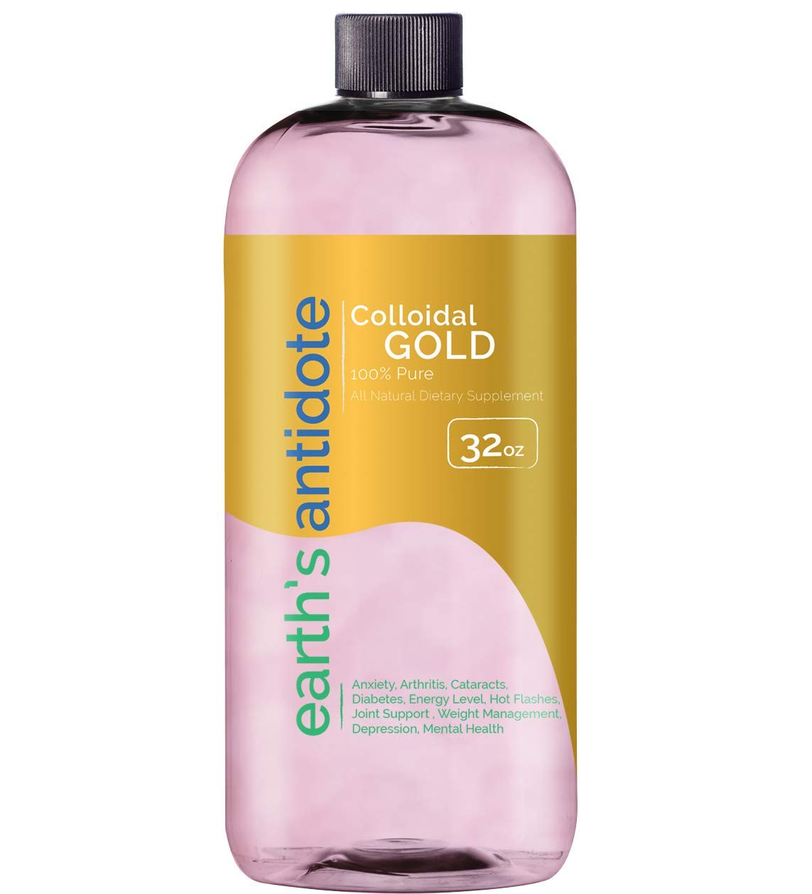 Earths Antidote Colloidal Gold 32 oz by Earths Antidote