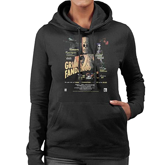 Cloud City 7 Grim Fandango Cover Womens Hooded Sweatshirt: Amazon.es: Ropa y accesorios