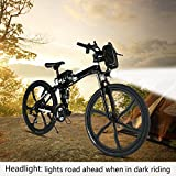 26″ Folding Electric Bike Power Mountain Bicycle with Lithium-Ion Battery (36V 250W), Super Lightweight Alloy 6 Spokes E-Bike (Black) Review