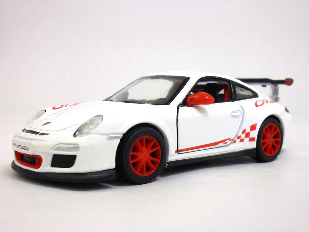 Porsche 911 GT3 RS 1//36 Sclae Diecast Model Car WHITE