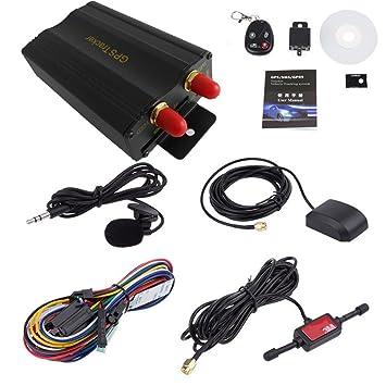 damark (TM) coche GPS SMS GPRS Rastreador Tiempo real vehículo ...
