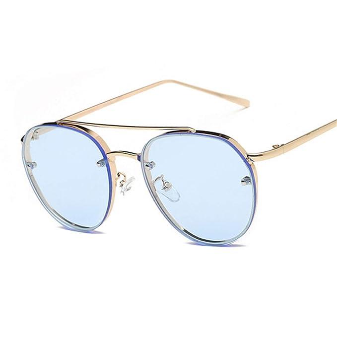 0d63a76ee7f9 Daawqee Occhiali Da Sole Classico Unisex New Clear Lens Round Women Fashion  Sunglasses Men Vintage Brand Designer Double Beam Sun Glasses Ladies Female  NEW ...