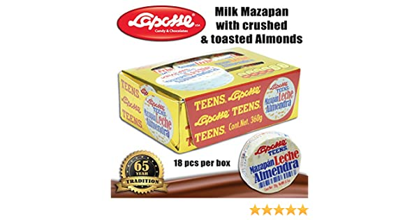 Amazon.com : Marzipan with almonds (2 X 18PC BOXES) : Grocery & Gourmet Food