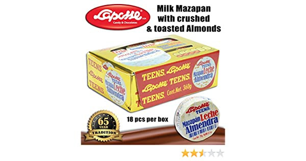 Amazon.com : Marzipan with almonds (1 X 18PC BOX) : Grocery & Gourmet Food