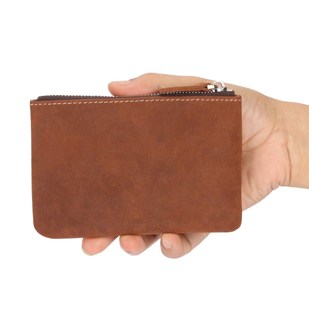 c6a4dd0f4747 Coin Purse Pouch Fmeida Mens Leather Zipper Change Holder Slim ...