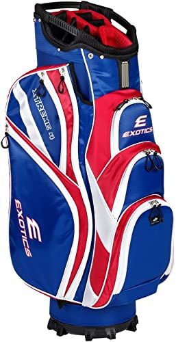 Tour Edge Male Exotics Xtreme4 Cart Bag Men's, Exotics Extreme 4 Cart Bag Red White Blue