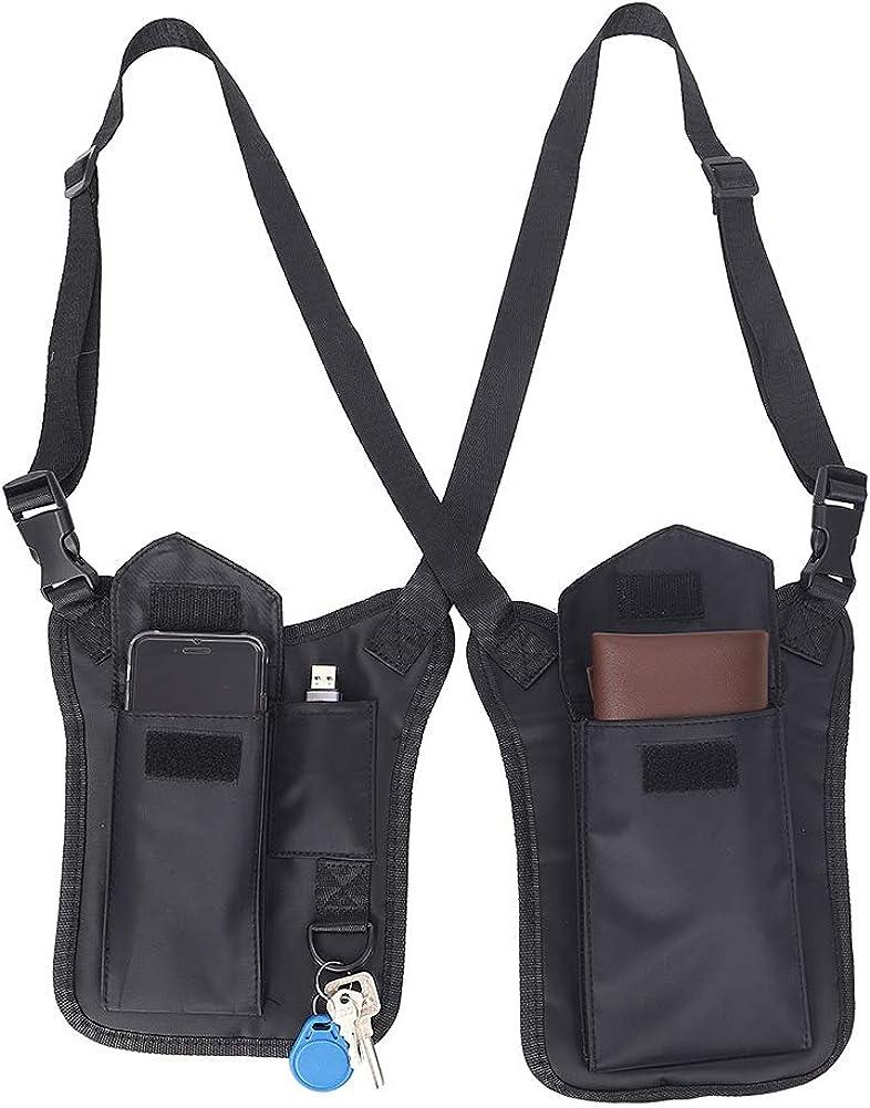 Anti-Thief Hidden Underarm Shoulder Bag for Men, Concealed Pack Pocket, Multi-Purpose Women Safety DoubleStorage Shoulder Armpit Bag Holster Tactical Bag for Travel Outdoors