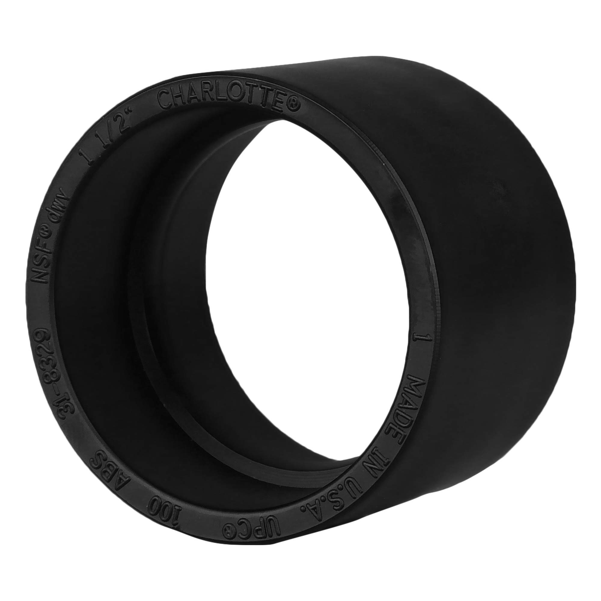 Charlotte Pipe 1-1/2'' DWV Coupling ABS DWV (Drain, Waste and Vent) Schedule 40 (Single Unit)