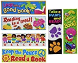 TREND T12906 Bookmark Combo Packs, Celebrate Reading Variety #1, 2w x 6h, 216/Pack