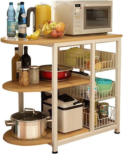 Rack de cocina de 3 niveles Utilidad Horno de microondas Soporte ...