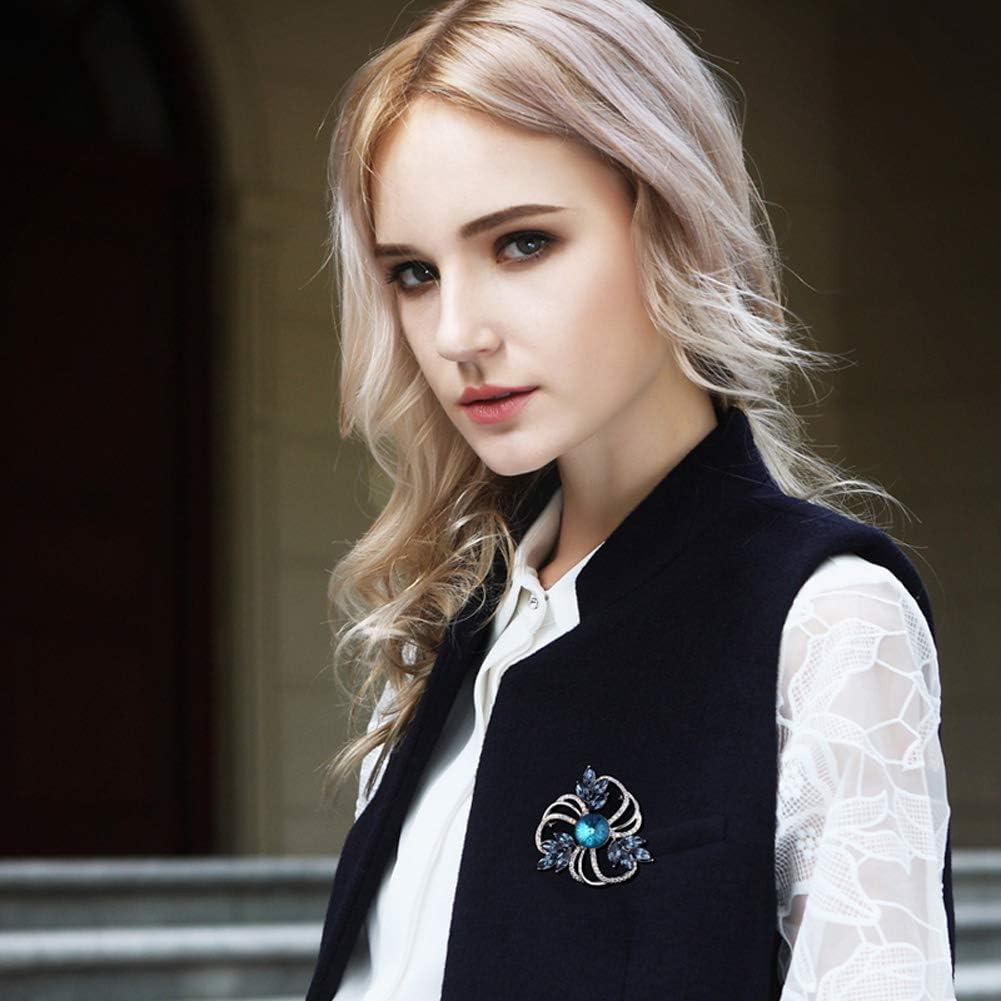 Haut De Gamme De Broches Robe Pull Manteau Shirt Accessoires Bijoux MLSJM Romantique Fleurs De Cristal Broche pour Les Femmes Dames Cadeaux Uniques pour Sa