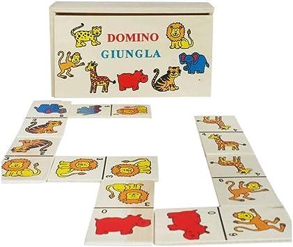 GHB – Juego de Mesa Empresas Domino Animales con Caja de Madera Juegos de Cartas: Amazon.es: Electrónica