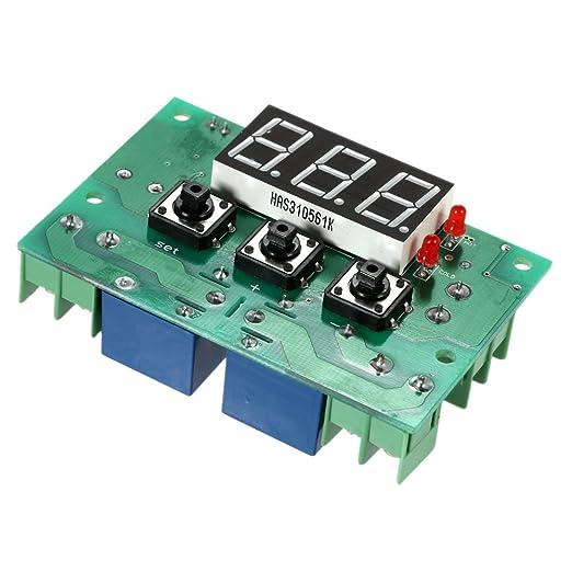 1 opinioni per KKmoon 12V Termostato Automatico Regolatore di Temperatura Modulo, 2 canali relè