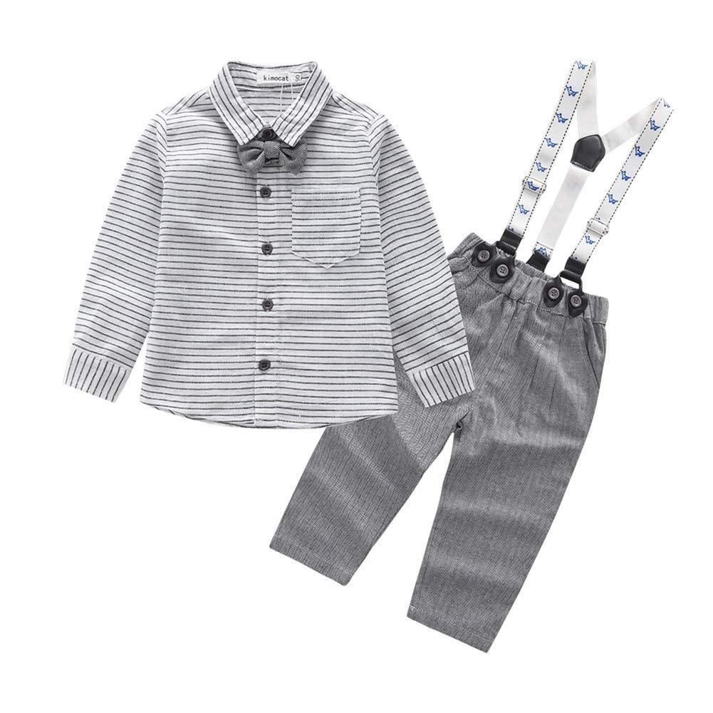Fairy Baby Infant Boys Gentleman Outfit 2PCS Clothes Formal Tuxedo Suit Pant Set