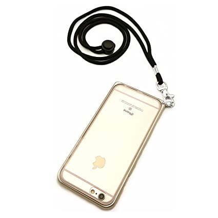 new product 79f78 59cd2 Case for iPhone 6 Plus with Neck Strap - Detachable Long Lanyard - Holds  Your Apple 5.5 Inch 6s Plus Handsfree (Gold)