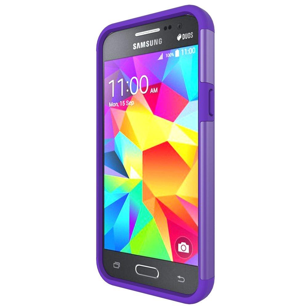 d437f6eed24 MicroP Galaxy j3 V Caso, Galaxy J3 Caso, de Doble Capa Armor Defender  teléfono Celular de Silicona para Samsung Galaxy J3/J3 V, Galaxy Sol/Cielo,  Amp Prime, ...
