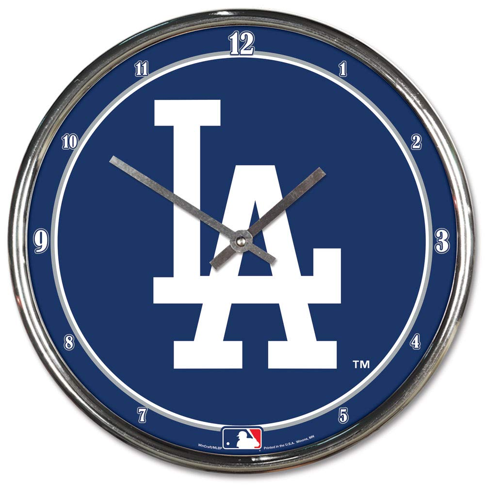 MLB Los Angeles Dodgers Chrome Clock, 12'' x 12'' by WinCraft