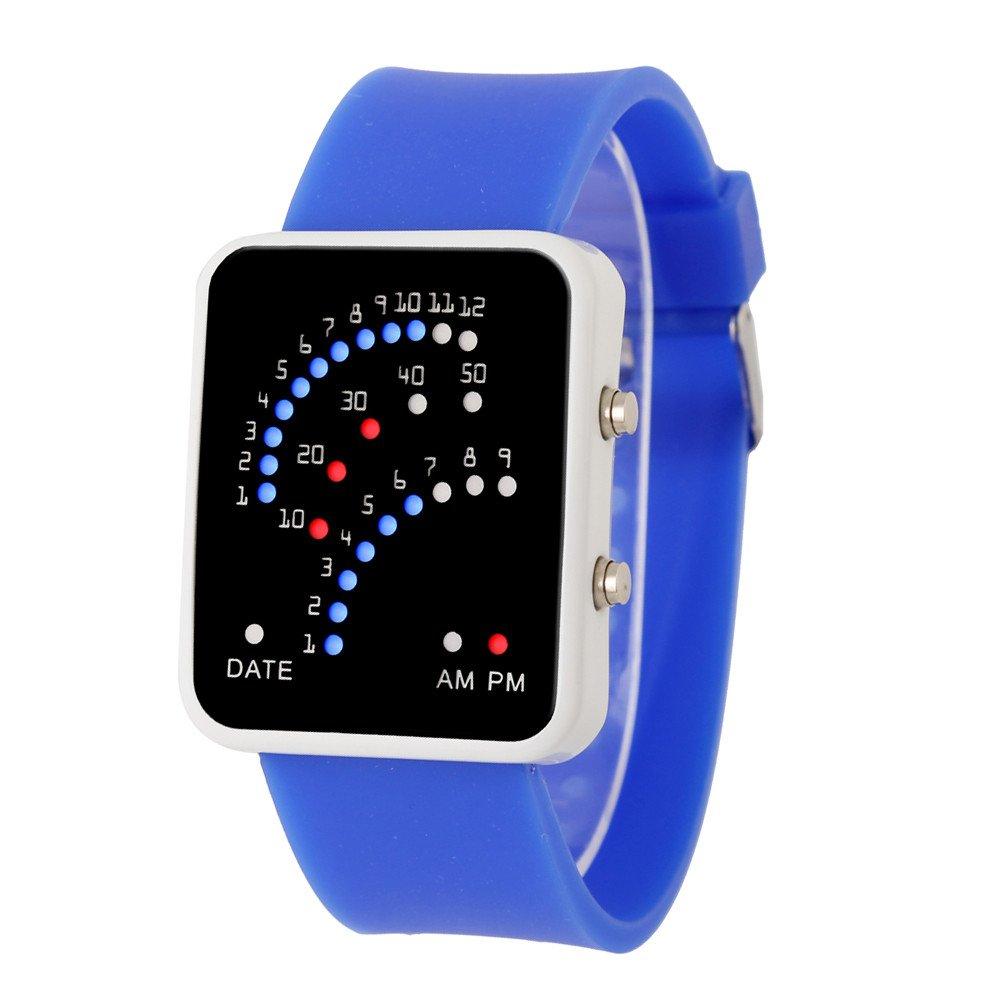Rcool Relojes suizos relojes de lujo Relojes de pulsera Relojes para mujer Relojes para hombre Relojes deportivos,Reloj deportivo estilo multicolor LED ...