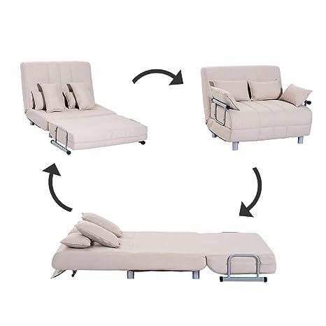 Homcom Klappbarer Schlafsessel Schlafsofa Klappmatratze Faltmatratze Gastebett Klappbett Bett Modell 4