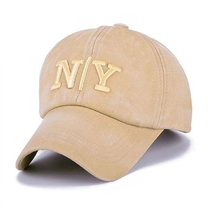 THENICE Vintage Sport Tapa algodón NY Unisex Gorra de béisbol beige Talla única : Amazon.es: Ropa y accesorios
