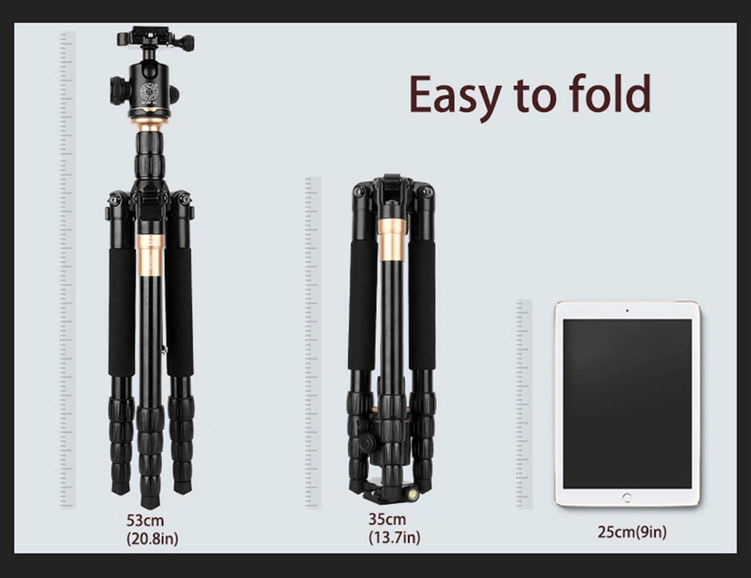 Lightweight and Portable Color : Black Durable Portable Multifunctional Tripod and monopod LLluckyHW Travel Camera Tripod and monopod Compatible with Various Cameras