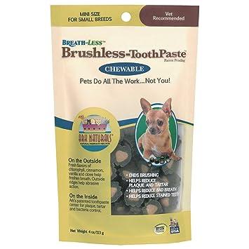 Arca Naturals Productos para Perros sin Aliento masticables Pasta de Dientes sin escobillas, Mini, 4-Ounce: Amazon.es: Productos para mascotas