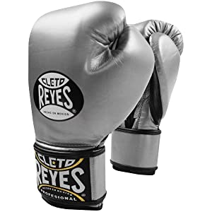 Best Boxing Gloves for Muay Thai - Cleto Reyes Lace Up Hook and Loop Hybrid Fit Cuff Boxing Gloves