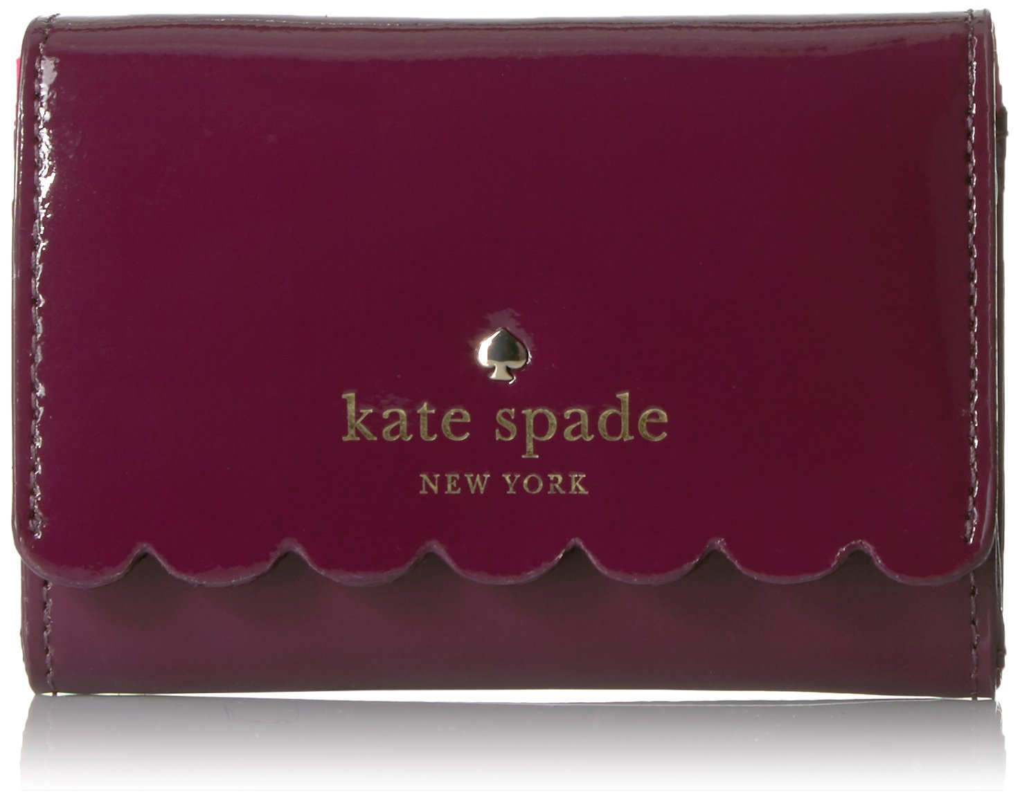 kate spade new york Lily Avenue Patent Darla Credit Card Holder, Mahogany/Radish, One Size by Kate Spade New York