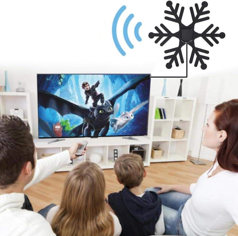 Cosiki Antena de TV Digital Forma de Copo de Nieve Material ignífugo Antena de TV(Oro): Amazon.es: Electrónica